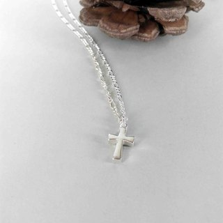 Mini Cross / Silver / necklace / Màn workers