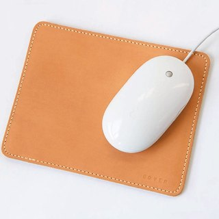 Handmade leather mouse pad,Genuine cowhide leather