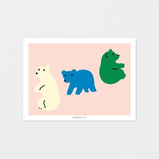 ROLLING BEAR - POST CARD