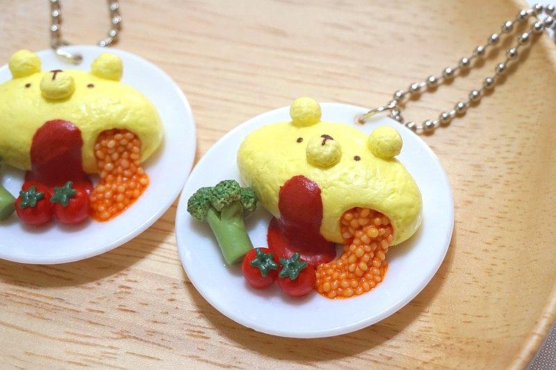 HealingKuma Collection 日式小熊蛋包飯鑰匙圈 | 仿真食物飾物