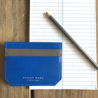 Thin card holder - blue-gray (to be sold out Replenishment)