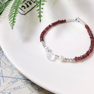 MH sterling silver natural stone custom series _ red pomegranate _ garnet