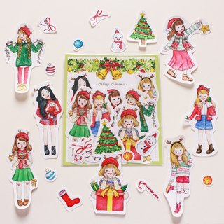 [Winter Christmas Girl] 7 into sticker set