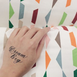 "cottontatt ""Dream Big"" calligraphy temporary tattoo sticker"