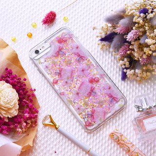 [Pink Bubble] ONOR quicksand phone case for iPhone 6/6s/7/8 plus