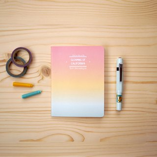 Bawan paper limited - fantasy gradient notebook A6, California sunset