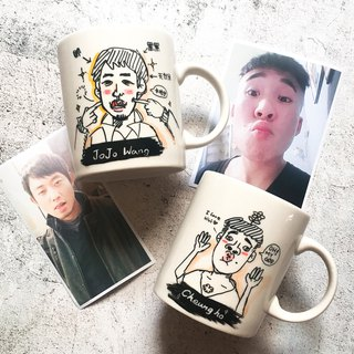 Custom Q version portrait. Portrait _Kuso funny portrait mug