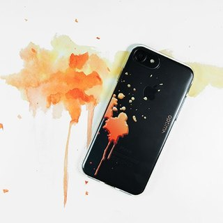 Optima iPhone 8/7 TPU thin protective case splashing orange