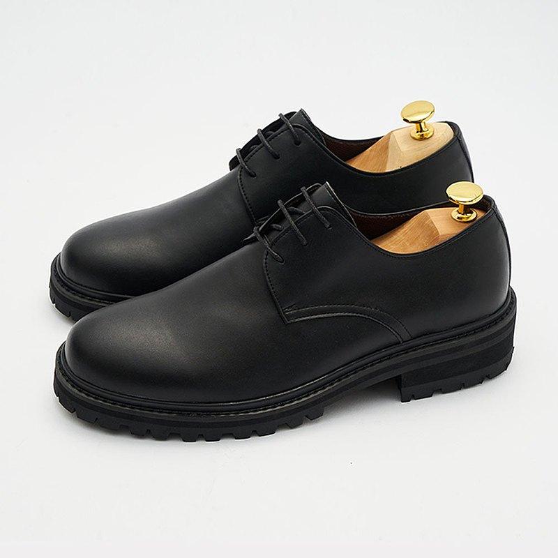 Gullar 三孔馬丁男鞋-素食皮鞋(黑色)