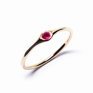 Ruby K10 minimum ring【Pio by Parakee】紅寶石戒指