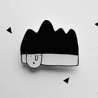 Miss Hairy Collection / Black and White Brooch/ H004