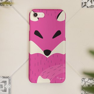 iphone case the sweet pink fox for iphone5s,6s,6s plus, 7,7+, 8, 8+,iphone x