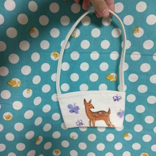 [customized beverage cup bag] _ beautiful with a walk _ flower pattern _ custom _ simple pattern