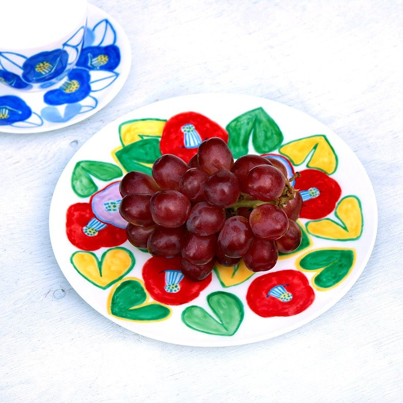 Smile Camellia's color drawing dish
