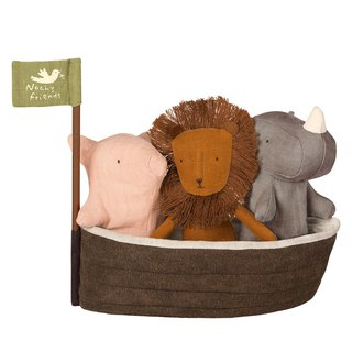 Noah Ark and 3 Mini Animals