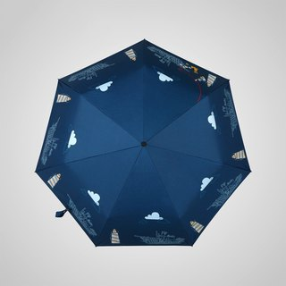 [Germany kobold] Disney officially authorized -7K rain and rain dual-use umbrella - nautical Mickey
