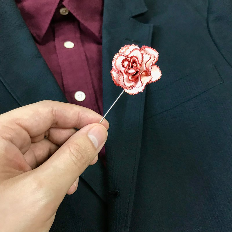 Leather Carnation Pin