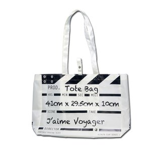 Director Clap Tote Bag - White (Polyester)
