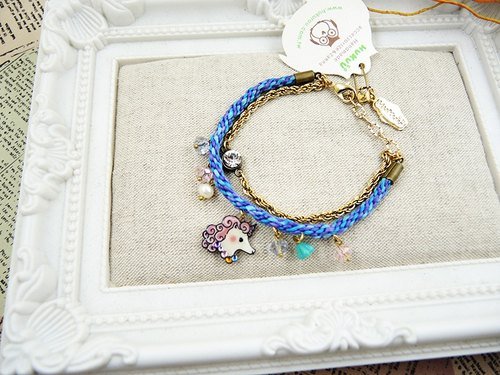 § HUKUROU§ Unicorn double braided bracelet