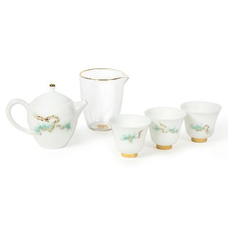 Tao Zuofang │ Cang Song Cuibai Tea Set Five Pieces