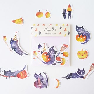Halloween limited product magic black cats party stickers