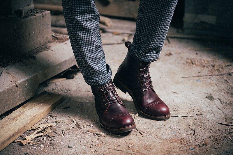 紳感橫飾工作靴 濃淬咖  工作鞋│工裝│男