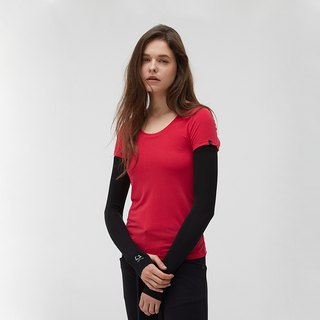 Copper ammonia comfortable round neck Tee - pink