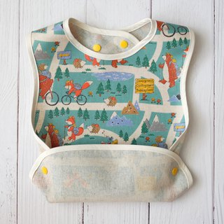 Lake Blue Bear Excursions Map Oil Waterproof Bibs Muni Festival Growth Bib