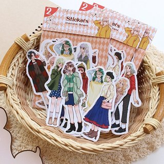 Girl World Sticker Set (2) / 12 Enter Account Sticker Diary Sticker