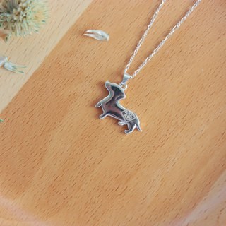 [Pet home] 926 sterling silver necklace dachshund dog blessing hair child Want Want