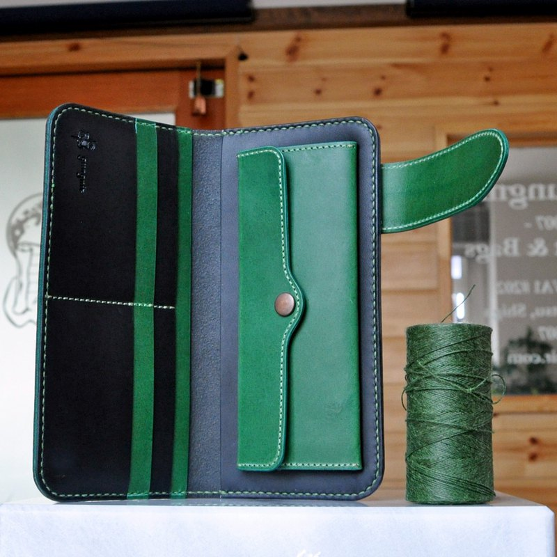 Simple long wallet B No.4 butero