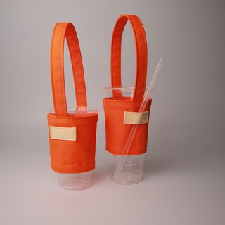 Pu.sozo cloth hand made colorful series - fresh orange orange green cup set drink cup set drink bag