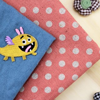 Kiss the little monster self-adhesive embroidered cloth stickers - Monster Planets whimsical world series