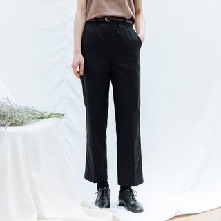 hao Black Relaxed Chino Trousers Black Casual Pants