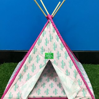 [AFU] Indian camping tent with sleeping mat (pink cactus)