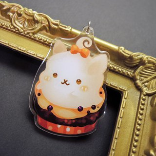Acrylic double-sided strap - Halloween rabbit - A floating