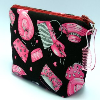 Large flat bottom zipper pouch /cosmetic bag (padded) (ZL-30)