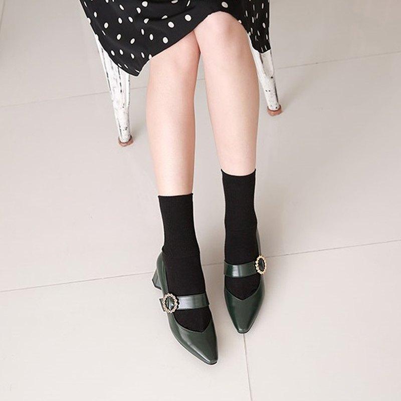 PRE-ORDER – 韓國人手製 MACMOC Ppetti (Green) 瑪麗珍高跟鞋