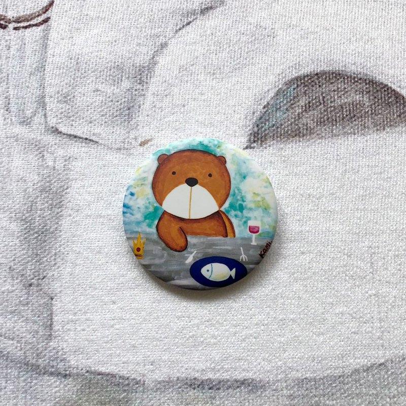胸針-棕熊