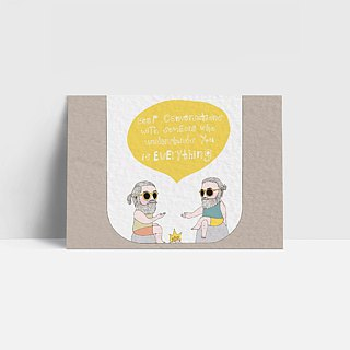 1105 | Deep conversations with someone | Postcards | Funny