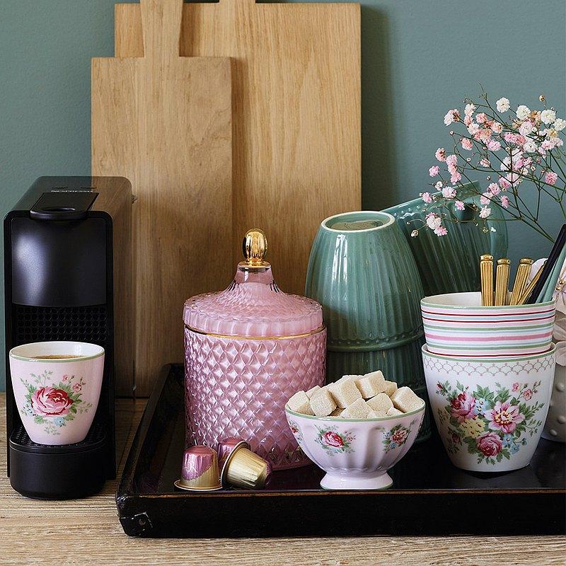 丹麥GreenGate Aurelia pale pink 拿鐵杯 / 法式拿鐵碗 M