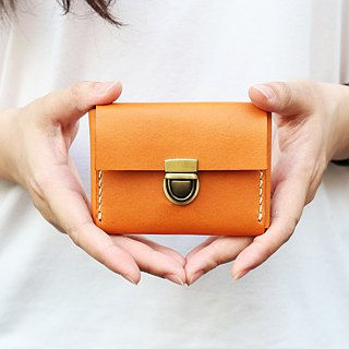 森下树SENSIASHU / Card type double layer purse / Toffee / Italian yak leather