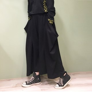 [pant] square cut styling pants _ black