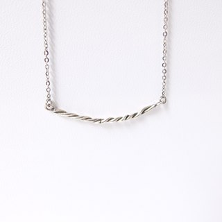 Smiling sterling silver necklace