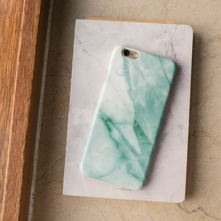 Original Imitated  Turquoise Marble Phone case (iPhone model) with hard shell back case