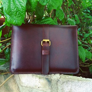 Elegant travel Wallet for iPad + iPad Mini color dark brown