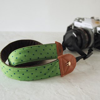 Hand-made decompression camera strap manual camera back rope camera strap (emerald blue dot) S20