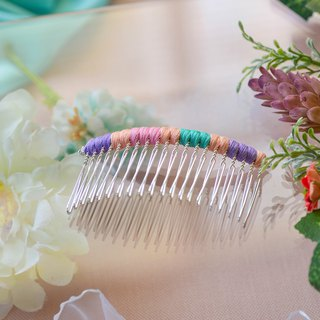 Makeup plate braided fork / hairpin / hair comb - macaron