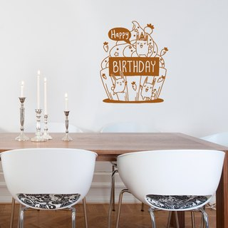 """Smart Design"" Creative Seamless wall stickers ◆ Happy Birthday 8 color options"