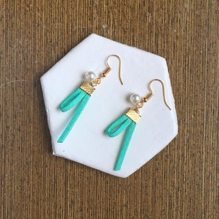Handmade Earrings Earclips Rose Gold Series-mint green limited